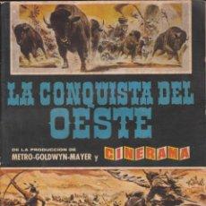 Coleccionismo Álbumes: ALBUM INCOMPLETO LA CONQUISTA DEL OESTE EDITORIAL BRUGUERA . Lote 56889001