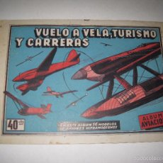 Coleccionismo Álbumes: ALBUM VUELO A VELA TURISMO CARRERAS - INCOMPLETO - CISNE -COMERCIAL GERPLA - VER FOTOS -(V-5678). Lote 56966122