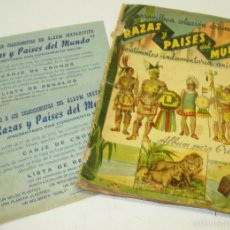 Coleccionismo Álbumes: ALBUM CROMOS RAZAS Y PAISES DEL MUNDO,CONDIMENTO DELIA AÑOS 50,SOLO FALTAN 2 DE 384 CROMOS. Lote 57220544