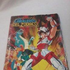 Coleccionismo Álbumes: ALBUM DE CROMOS LOS CABALLEROS DEL ZODIACO DE PANINI AÑO 1986 - INCOMPLETO . Lote 57484663