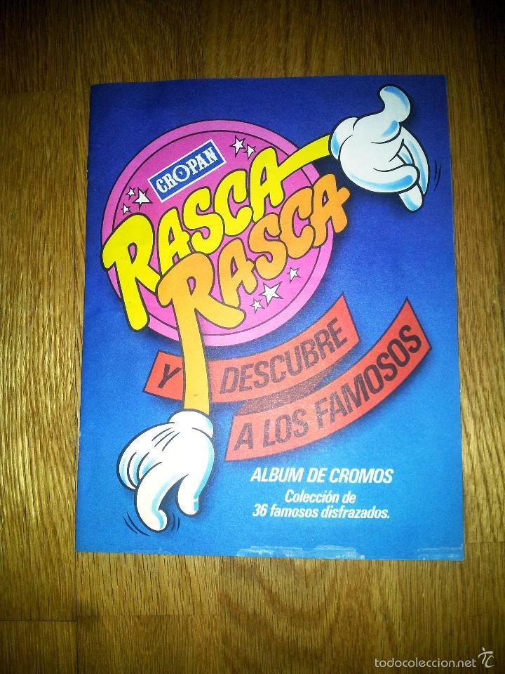 ALBUM RASCA RASCA Y DESCUBRE A LOS FAMOSOS CROPAN. COLECCION 36 FAMOSOS DISFRAZADOS (Coleccionismo - Cromos y Álbumes - Álbumes Incompletos)
