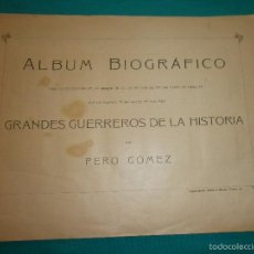 Coleccionismo Álbumes: PRECIOSO ALBUM ANTIGUO DE CERILLAS SERIE 18 BIOGRAFICO FOTOTIPIAS FALTAN 3 DE 75 CROMOS. Lote 57832361