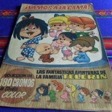Coleccionismo Álbumes: VAMOS A LA CAMA FAMILIA TELERIN INCOMPLETO FALTAN 28 DE 180 CROMOS. BRUGUERA 1965. MBE REGALO CUENTO. Lote 57886056