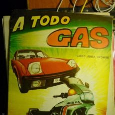 Coleccionismo Álbumes: ALBUM A TODO GAS -EDIT.MAGA. Lote 57928534