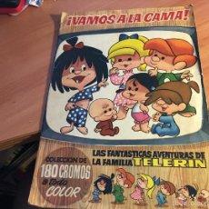 Coleccionismo Álbumes: VAMOS A LA CAMA. LA FAMILIA TELERIN CON 161 CROMOS DE 180 CROMOS (BRUGUERA 1965) (ALB-A). Lote 58083759