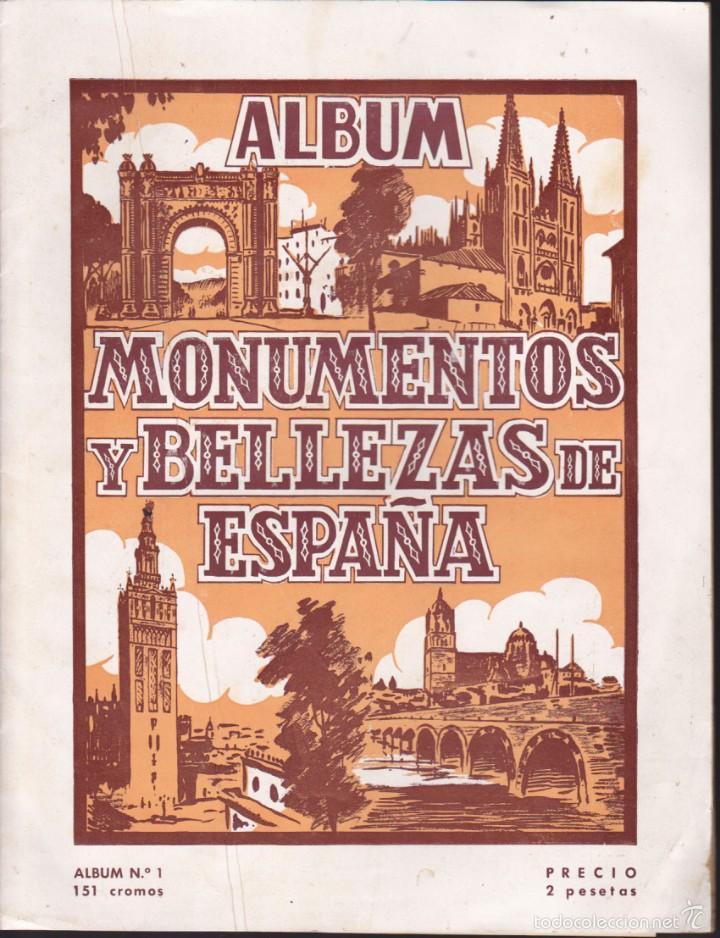 ALBUM INCOMPLETO MONUMENTOS Y BELLEZAS DE ESPAÑA N º1 EDITORIAL CASULLERAS (Coleccionismo - Cromos y Álbumes - Álbumes Incompletos)