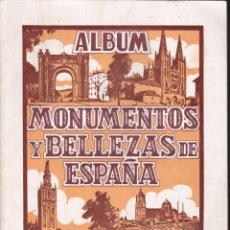 Coleccionismo Álbumes: ALBUM INCOMPLETO MONUMENTOS Y BELLEZAS DE ESPAÑA N º1 EDITORIAL CASULLERAS. Lote 58240112
