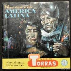 Coleccionismo Álbumes: ALBUM CHOCOLATES TORRAS PANORAMICA DE AMERICA LATINA (-15 CROMO). Lote 58546021