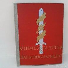 Coleccionismo Álbumes: ÁLBUM DE CROMOS. PÁGINAS BRILLANTES DE LA HISTORIA ALEMANA. ALEMANIA.1934.. Lote 58638520
