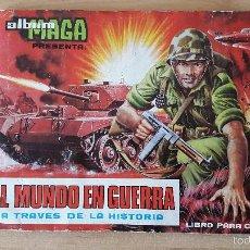 Coleccionismo Álbumes: ALBUM CROMOS MAGA - EL MUNDO EN GUERRA. FALTAN SOLO 37 CROMOS DE 270 (VER FOTOS Y LEER DESCRIPCION). Lote 58679513