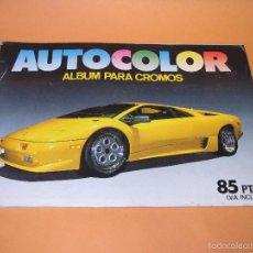 Coleccionismo Álbumes: ANTIGUO ALBUM * AUTOCOLOR * DE EDITORIAL COMIC CROMO DEL AÑO 1980S.. Lote 58740816