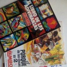 Coleccionismo Álbumes: TRES ÁLBUMES BIMBO INCOMPLETOS. EN PERFECTO ESTADO.. Lote 58765222