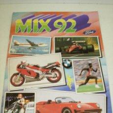 Coleccionismo Álbumes: ALBUM CROMOS MIX 92, CROMOS ROS 1992, CON 12 CROMOS. Lote 59075295