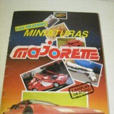Coleccionismo Álbumes: ALBUM CROMOS / CATÁLOGO LAS GRANDES MINIATURAS DE MAJORETTE, AÑOS 90, CON 91 CROMOS. Lote 59076150