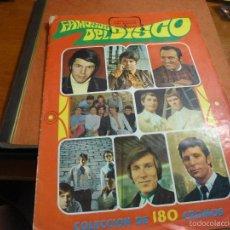 Coleccionismo Álbumes: FAMOSOS DEL DISCO, ALBUM DE 180 CROMOS DE LOS QUE CONSERVA 150, EDICION DE 1968. Lote 59712671