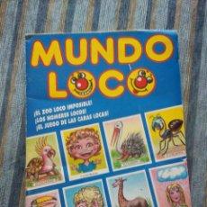 Coleccionismo Álbumes: ALBUM DE CROMOS MUNDO LOCO (INCOMPLETO) (EDICIONES EYDER 1990). Lote 59811024