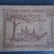 Coleccionismo Álbumes: 'LAS BELLEZAS DE GALICIA' ALBUM CON 117 CROMOS. JUAN GIL CAÑELLAS 24X34CM.. Lote 70666987