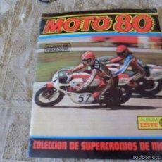 Coleccionismo Álbumes: ALBUM CROMOS MOTO 80 . Lote 60695039
