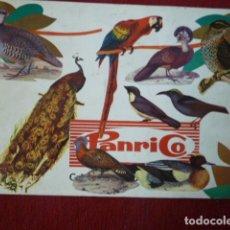 Coleccionismo Álbumes: ALBUM DE CROMOS DE PAJAROS DE PANRICO. FALTAN 3 CROMOS.. Lote 62211068