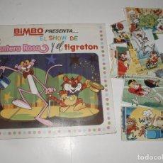Coleccionismo Álbumes: ALBUM EL SHOW DE LA PANTERA ROSA Y EL TIGRETON BIMBO VACIO MAS 37 CROMOS. Lote 62593392