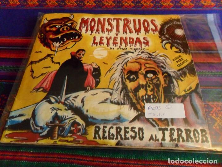 MONSTRUOS Y LEYENDAS, REGRESO AL TERROR COMPLETO 191 CROMOS A FALTA DE CROMOS 5 8 11. MUY RARO. (Coleccionismo - Cromos y Álbumes - Álbumes Incompletos)