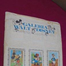 Coleccionismo Álbumes: ALBUM DE CROMOS INCOMPLETO. GALERIA WALT DISNEY. EDITORIAL FHER. CONTIENE 207 CROMOS. Lote 62917928