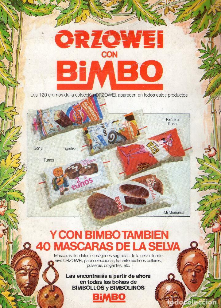 Coleccionismo Álbumes: ÁLBUM DE CROMOS - ORZOWEI - BIMBO - VACIO - AÑO 1978. - Foto 4 - 63193848