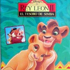 Coleccionismo Álbumes: ALBUM CROMOS EL REY LEON II EL TESORO DE SIMBA FALTAN 51 CROMOS PANINI. Lote 63481352