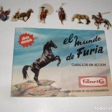 Coleccionismo Álbumes: ALBUM PANRICO EL MUNDO DE FURIA CABALLOS EN ACCION MAS 6 CROMOS. Lote 63589284