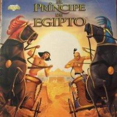 Coleccionismo Álbumes: ALBUM CROMOS EL PRINCIPE DE EGIPTO TIENE 107 CROMOS MUNDICROMO. Lote 64136847
