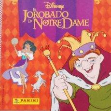 Coleccionismo Álbumes: ALBUM CROMOS EL JOROBADO DE NOTRE DAME FALTAN 9 CROMOS PANINI. Lote 64155191