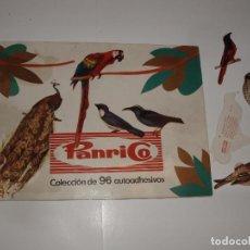 Coleccionismo Álbumes: ALBUM PAJAROS PANRICO Y 4 CROMOS SUELTOS. Lote 64397215