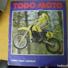 Coleccionismo Álbumes: TODO MOTO. CROMOS CANO (FALTAN 50) CROMOS CANO S.A.. Lote 65010927