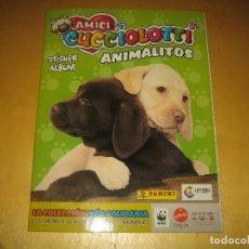 Coleccionismo Álbumes: ALBUM DE CROMOS ANIMALITOS AMICI CUCCIOCOTTI DE PANINI. Lote 65374731