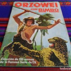 Coleccionismo Álbumes: ORZOWEI INCOMPLETO FALTAN 23 CROMOS DE 120. BIMBO AÑOS 70. REGALO CUENTO ORZOWEI DE LAIDA.. Lote 65853658