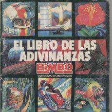Coleccionismo Álbumes: ALBUM CROMOS EL LIBRO DE LAS ADIVINANZAS FALTAN 73 CROMOS. Lote 65882794