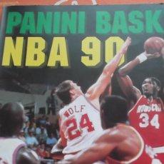 Coleccionismo Álbumes: ALBUM DE CROMOS BASKET NBA 90 PANINI 1990. Lote 66122642