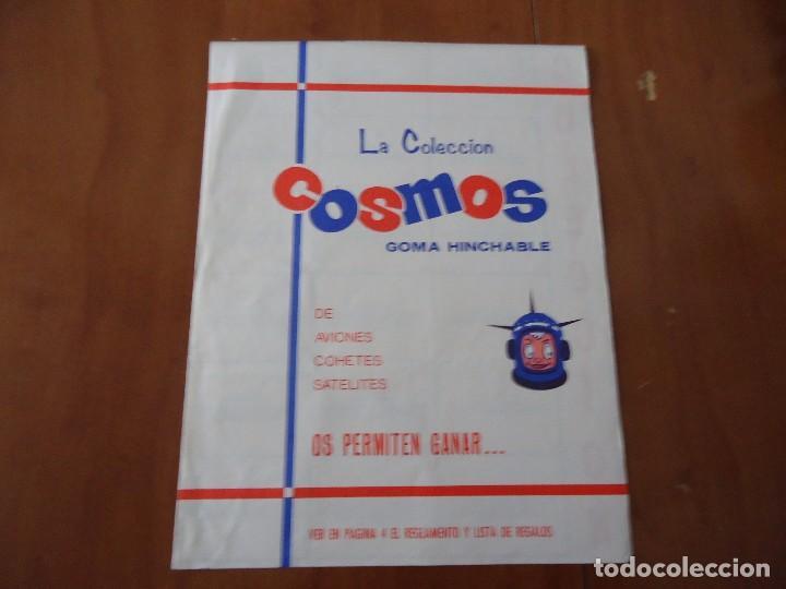ÁLBUM LA COLECCION COSMOS GOMA HINCHABLE DE AVIONES,COHETES,SATELITES,CHICLES AMERICANOS S.A 1969 (Coleccionismo - Cromos y Álbumes - Álbumes Incompletos)