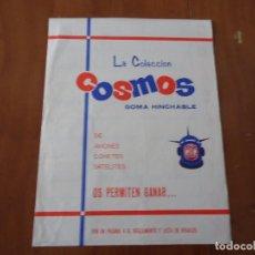 Coleccionismo Álbumes: ÁLBUM LA COLECCION COSMOS GOMA HINCHABLE DE AVIONES,COHETES,SATELITES,CHICLES AMERICANOS S.A 1969. Lote 66129070