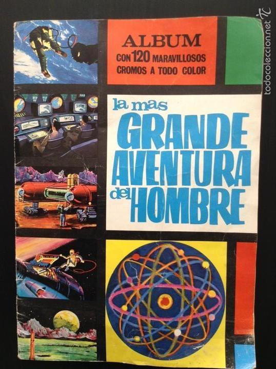 LA MÁS GRANDE AVENTURA DEL HOMBRE 95/120 ÁLBUM DE CROMOS (Coleccionismo - Cromos y Álbumes - Álbumes Incompletos)