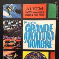 Coleccionismo Álbumes: LA MÁS GRANDE AVENTURA DEL HOMBRE 95/120 ÁLBUM DE CROMOS. Lote 66439969