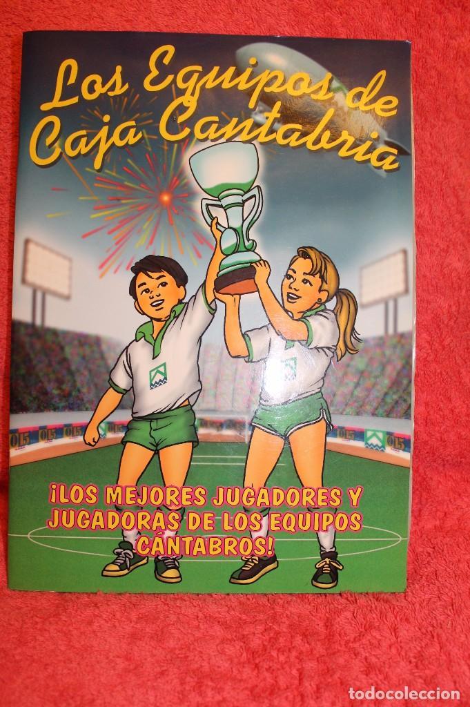ALBUM DE CROMOS LOS EQUIPOS DE CAJA CANTABRIA 1996 FALTAN 16 CROMOS (Coleccionismo - Cromos y Álbumes - Álbumes Incompletos)