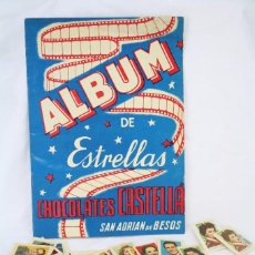 Coleccionismo Álbumes: ÁLBUM CROMOS INCOMPLETO - ÁLBUM DE ESTRELLAS. CHOCOLATES CASTELLÁ, SAN ADRIÁN / ADRIÀ BESÒS -RAREZA. Lote 67589713