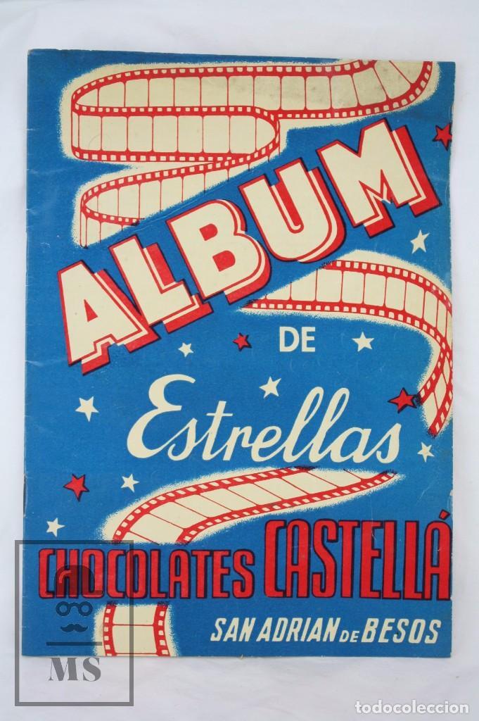 Coleccionismo Álbumes: Álbum Cromos Incompleto - Álbum de Estrellas. Chocolates Castellá, San Adrián / Adrià Besòs -Rareza - Foto 2 - 67589713