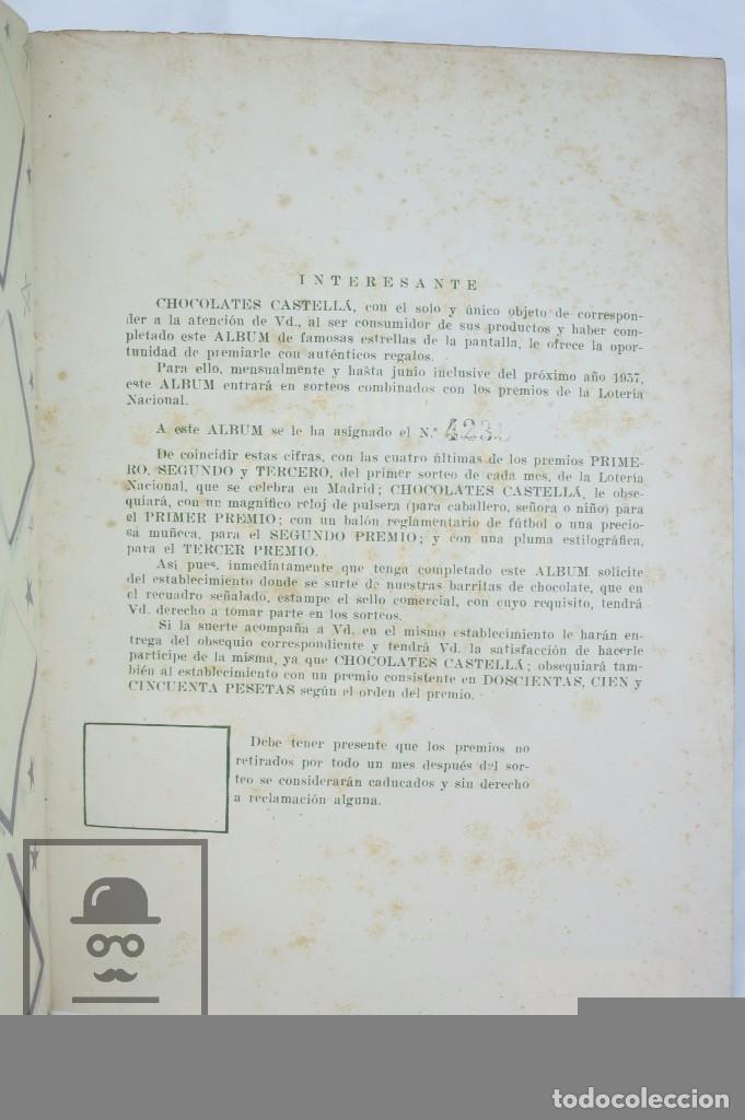 Coleccionismo Álbumes: Álbum Cromos Incompleto - Álbum de Estrellas. Chocolates Castellá, San Adrián / Adrià Besòs -Rareza - Foto 6 - 67589713