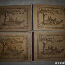Coleccionismo Álbumes: LAS BELLEZAS DE GALICIA. CUATRO ALBUMENES. Lote 68607609