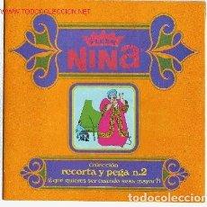 Coleccionismo Álbumes: ÁLBUM VACÍO DE CHICLES ``FLEER NIÑA´´-COLECCIÓN RECORTA Y PEGA Nº 2-1969 IMPECABLE. Lote 276968098