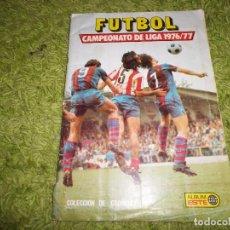 Coleccionismo Álbumes: ALBUM DE CROMOS FUTBOL CAMPEONATO DE LIGA 1976 / 1977 FALTAN 18 CROMOS BUEN ESTADO 76-77. Lote 71596087