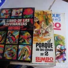 Coleccionismo Álbumes: EL LIBRO DE LAS MARAVILLA 1-2-3 BIMBO INCOMPLETOS. Lote 72212907