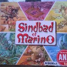 Coleccionismo Álbumes: ALBUM SINDBAD EL MARINO Nº 1 - DESAYUNO ANA 1956 - TAPAS DURAS (A-0). Lote 72313183